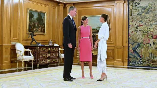 ESP: Spanish Royals Receive Ona Carbonell