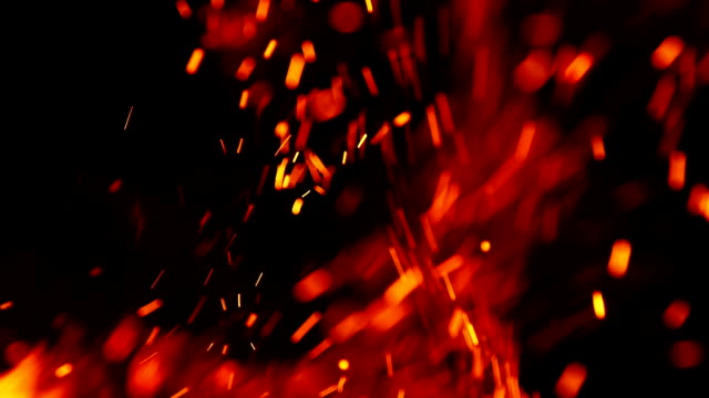vídeos de stock e filmes b-roll de spark of fire background - flame