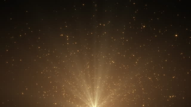 Sparking Gold Bokeh background with Flare Light for motion design work