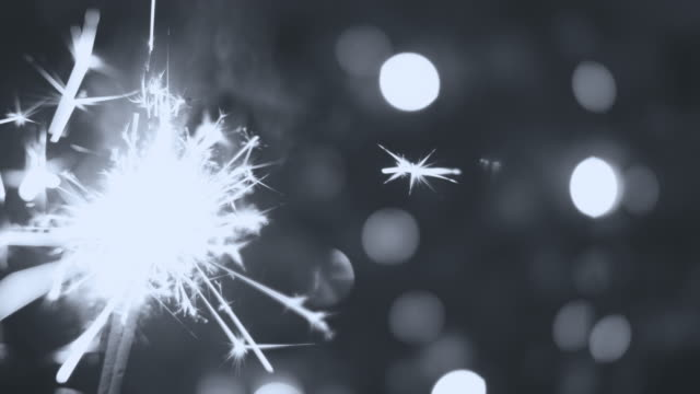 sparkler at christmas black and white - grayscale stock videos and b-roll footage