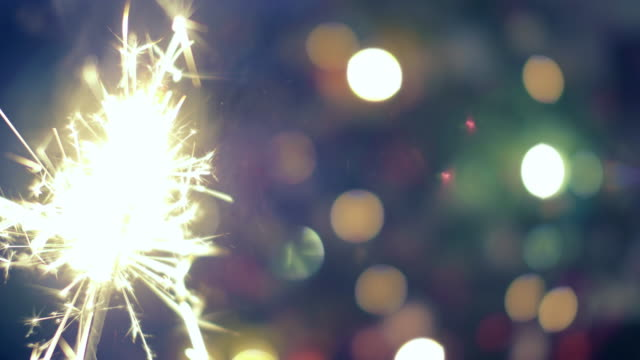 Sparkler at Christmas