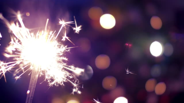 sparkler at christmas - sparkler stock videos & royalty-free footage