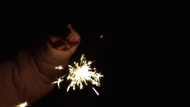 hd :sparkler 燃えるダウン - 部分点の映像素材/bロール