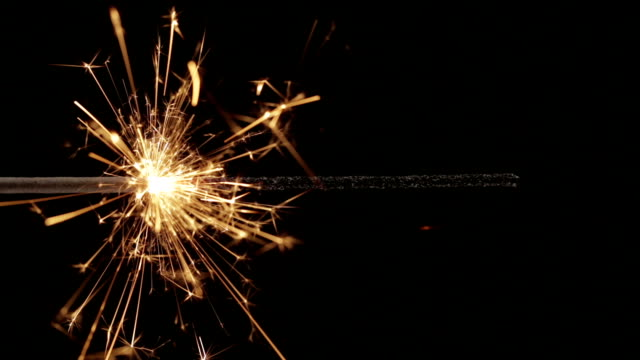 sparkler close up hd - firework explosive material stock videos and b-roll footage