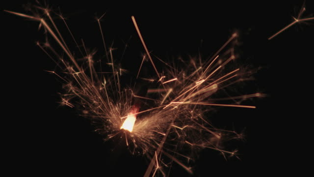 sparkler, extreme close up - pyrotechnic effects stock videos & royalty-free footage