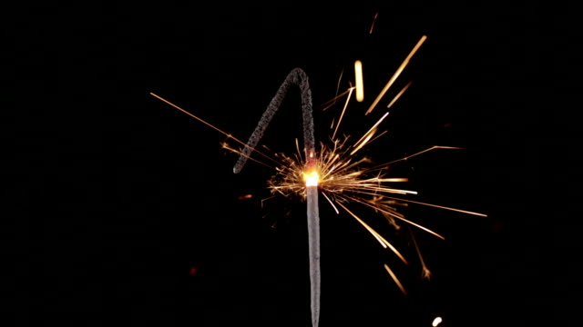 sparkler number 1 close up hd (2014) - number 1 stock videos & royalty-free footage
