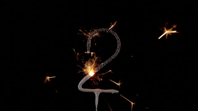 Sparkler Number 2 Close Up HD (2014)