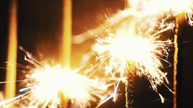 sparkler on dark background close up shot