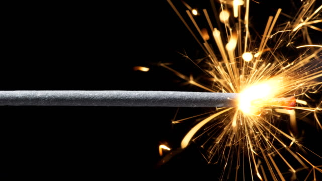 sparkler (slow motion) - firework explosive material stock videos & royalty-free footage