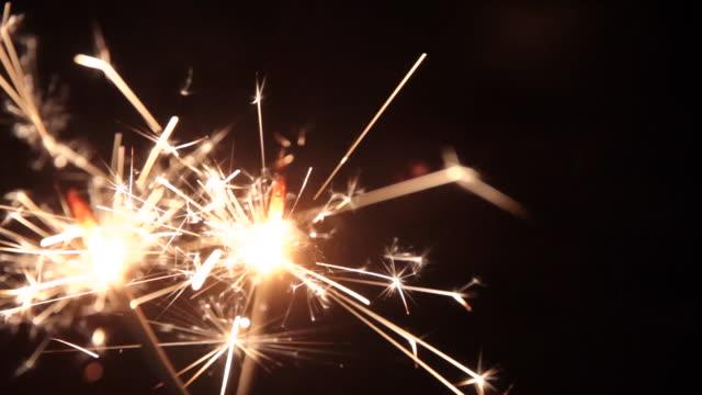 Sparklers burning