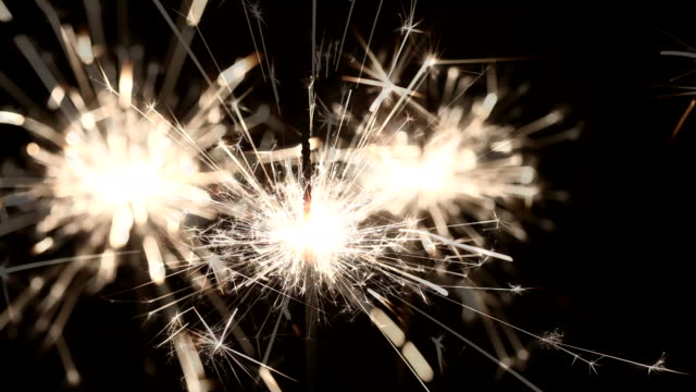 sparklers - three objects stock videos & royalty-free footage