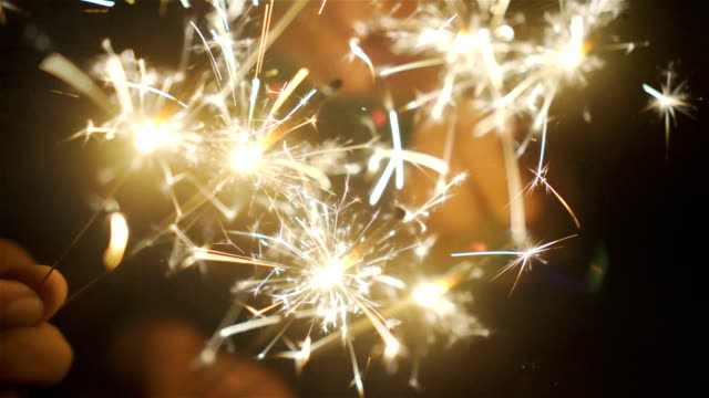 sparklers. - celebratory event stock videos & royalty-free footage
