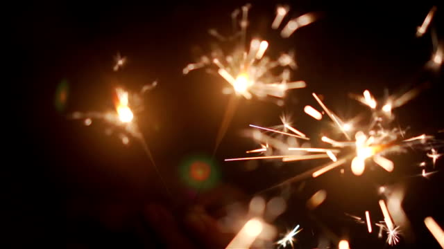 sparklers. - sparkler stock videos & royalty-free footage