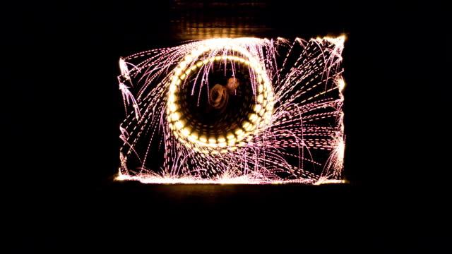 Sparkling circle meets square