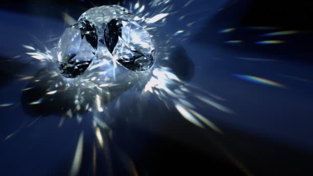 sparkling glass gems - 折射 個影片檔及 b 捲影像