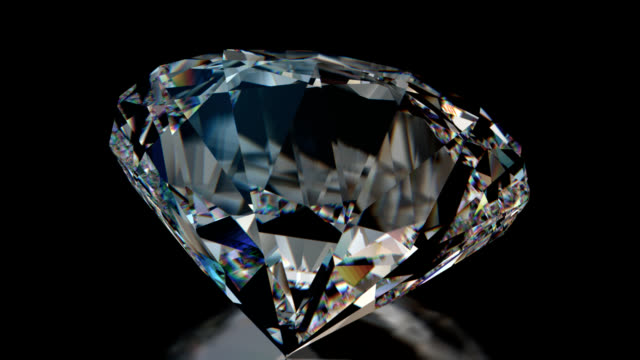 sparkling  revolving diamond - stone object stock videos and b-roll footage