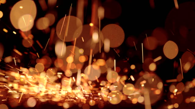 sparks abstract video background. 4k - sparks stock videos & royalty-free footage