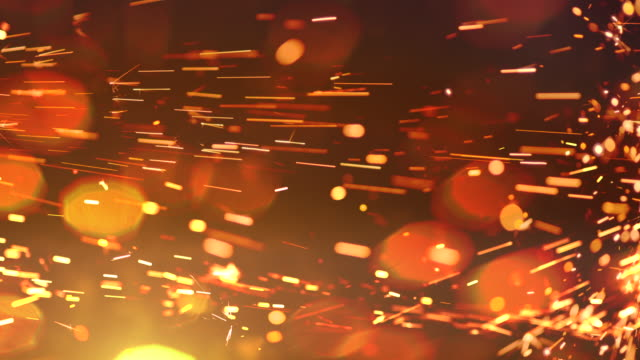sparks abstract video background. 4k - welding torch stock videos & royalty-free footage