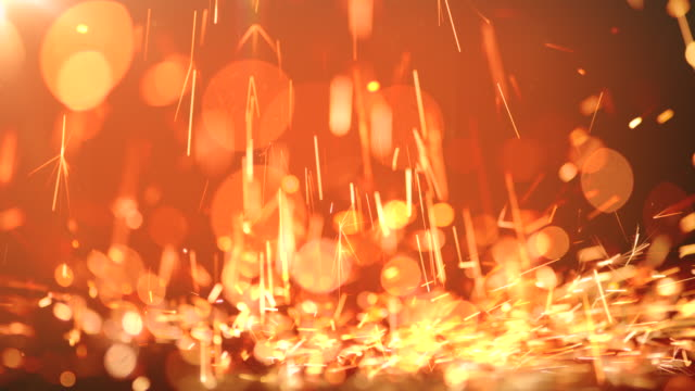 vídeos y material grabado en eventos de stock de fondo de vídeo abstracto de sparks. 4k - sparks