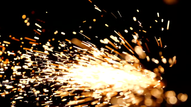 sparks from welding steel - steel mill stock videos & royalty-free footage