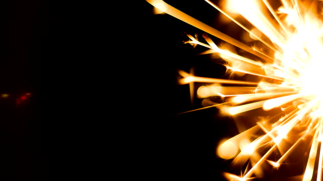 sparks of  fire - sparkler stock videos & royalty-free footage