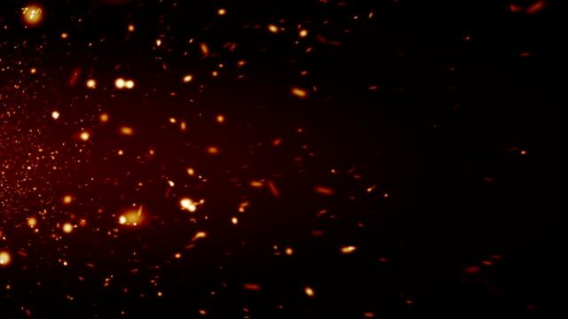 スパークに黒色の背景 - 燃焼煙突点の映像素材/bロール