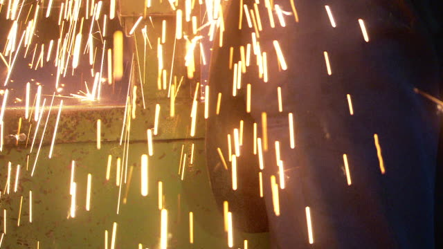 sparks while grinding - metal stock videos & royalty-free footage