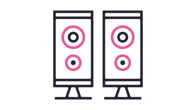 speaker icon animation - line art video stock e b–roll
