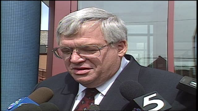 wgn speaker of the house dennis hastert talks about daniel coughlin serving as the 59th chaplain of the united states house of representatives in... - yorkville illinois stock videos & royalty-free footage