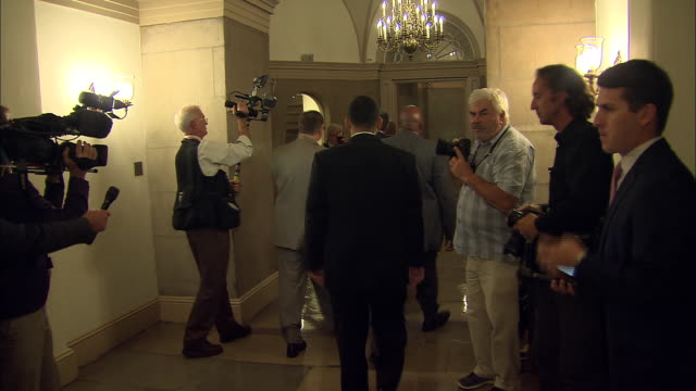 speaker of the house john boehner arrives at the capitol during the 2013 government shutdown in the us - united states and (politics or government) stock videos & royalty-free footage