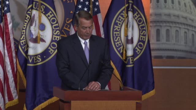 speaker of the house john boehner says during weekly news conference that congress must be able to evaluate any side deals of the iran agreement the... - speaker of the house stock videos and b-roll footage