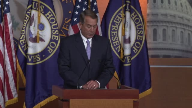 speaker of the house john boehner says secretary hillary clinton and the state department are prolonging the investigation by withholding emails - speaker of the house stock videos and b-roll footage