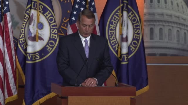 speaker of the house john boehner says that immigration laws need to be enforced - speaker of the house stock videos and b-roll footage