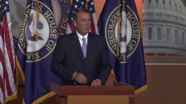 speaker of the house john boehner says that there is an investigation under way regarding planned parenthood and he expects hearings in this regard - speaker of the house stock videos and b-roll footage