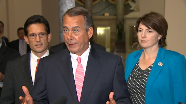 stockvideo's en b-roll-footage met speaker of the house john boehner states his political position during 2013 government shutdown - united states and (politics or government)