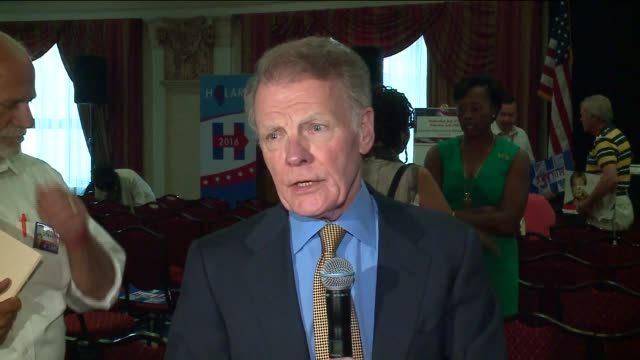 wgn speaker of the illinois house michael madigan say 'bernie sanders has done great service for democratic party' at the 2016 dnc on july 27 2016 in... - speaker of the house stock videos and b-roll footage