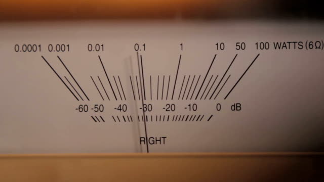 スピーカ出力 m (右) - 測定器点の映像素材/bロール