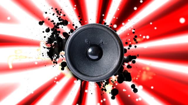 Speaker playing music