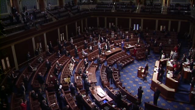 speaker pro tempore anthony brown of maryland puts the question on adoption of the motion to pass the cares act to deal with economic and health care... - congress stock videos & royalty-free footage