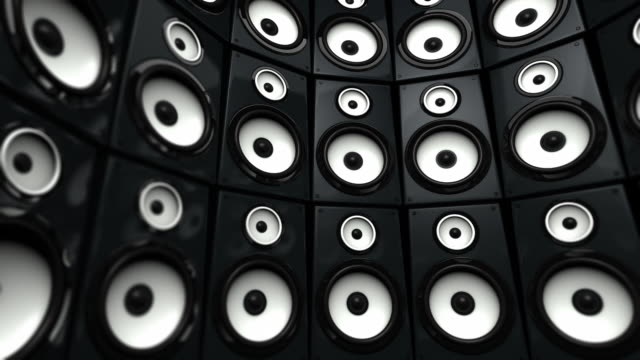 Speaker Wall Background Loop - Black & White (Full HD)