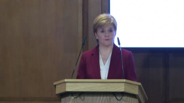 speaking at a joint press conference in london with the scottish and welsh prime ministers scottish first minister nicola sturgeon says she believes... - doing a favour stock videos & royalty-free footage