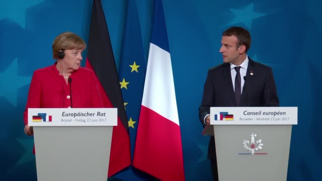 speaking at a summit in brussels german chancellor angela merkel says that if the uk does not guarantee four basic freedoms in future brexit... - angela merkel stock videos & royalty-free footage