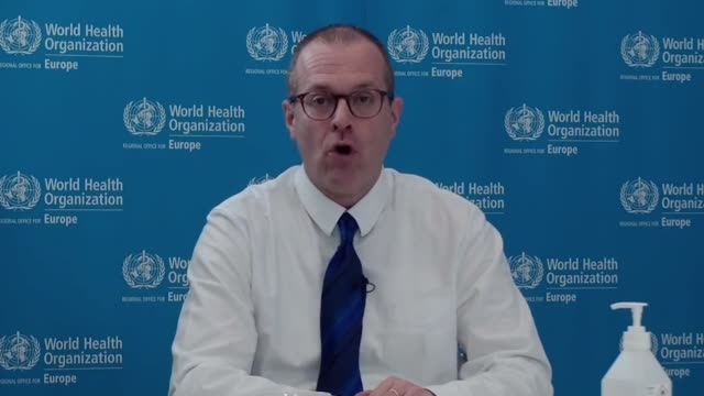 speaking at a world health organisation briefing, dr hans henri p. kluge warns that the world is still in the 'midst of a storm' during the covid-19... - organised group stock videos & royalty-free footage