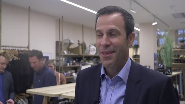 speaking at the launch of cancer research uk's tennis memorabilia treasure hunt former british no 1 tennis player greg rusedski says he is surprised... - souvenir stock videos and b-roll footage