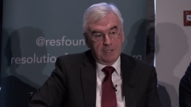 Speaking at the Resolution foundation in London the Shadow chancellor denied meeting any Czech spies and said that he'd prefer a general election to...