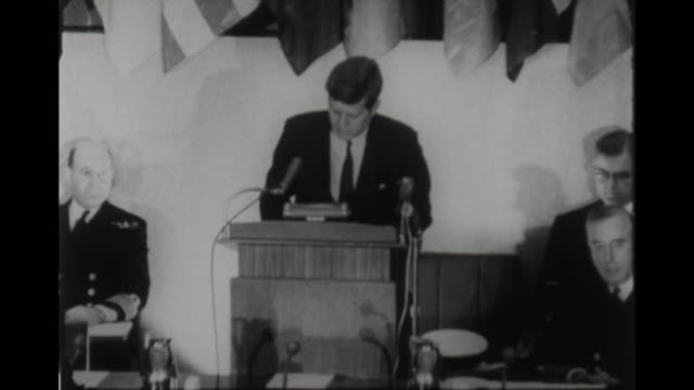 speaks about the importance of nato military strength both convention and nuclear - 1961 stock videos & royalty-free footage