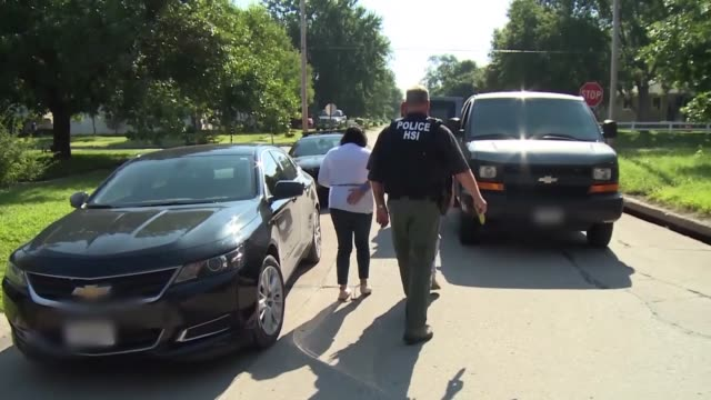 special agents from us immigration and customs enforcement's and homeland security investigations execute search warrants and make arrests connected... - ice us homeland security stock videos & royalty-free footage