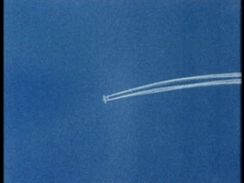 1975 MONTAGE AERIAL WS Special airplane carrying out cloud seeding / United States / AUDIO