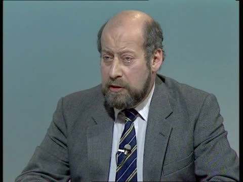 bermondsey byelection live part one england london itn clement freud mp neil kinnock mp and cecil parkinson mp live studio alastair burnet live - nachwahl stock-videos und b-roll-filmmaterial