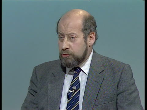 bermondsey byelection live part one england london itn int alastair burnet live studio neil kinnock mp clement freud mp and cecil parkinson mp live... - nachwahl stock-videos und b-roll-filmmaterial